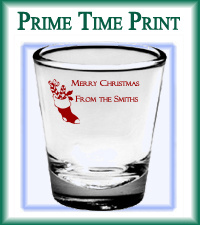 Personalized shot glasses Christmas