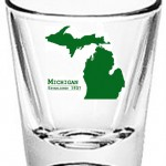 State Series Michigan shot glass