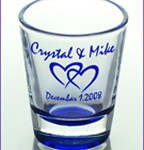 customized wedding shot glasses