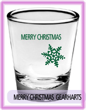 Merry Christmas shot glass package