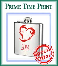Valentine's Day Flasks from Prime Time Print make the perfect gift for your sweet heart