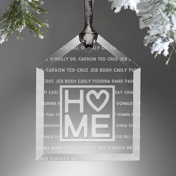 Customized Christmas house ornament