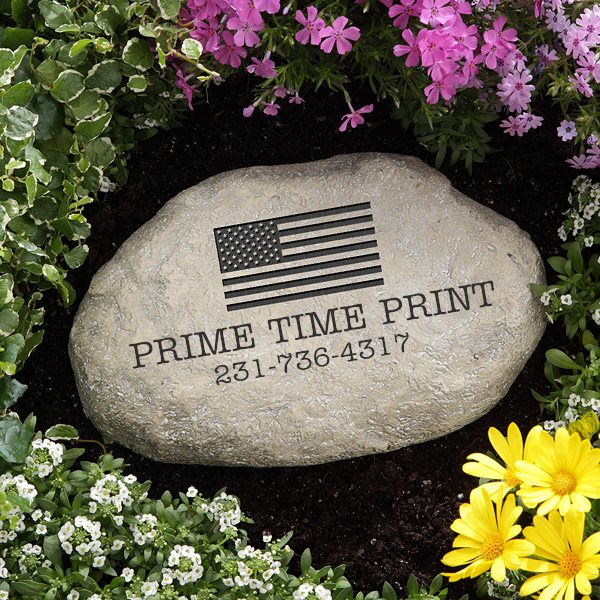 Customized Stones with US Flag logo Personalized American business items